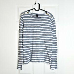 J.Crew Womens Painter T Shirt Tee Striped Sz M